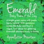 Emerald: Baby Name of the Day