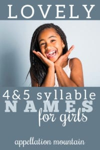 longer names for girls