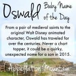 Oswald: Baby Name of the Day