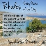 Rhodes: Baby Name of the Day