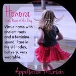 Honora: Baby Name of the Day
