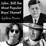John: Still the Number One Name?