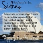 Sidney: Baby Name of the Day