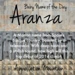 Aranza: Baby Name of the Day