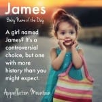 James for a Girl: Baby Name of the Day