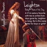 Leighton: Baby Name of the Day
