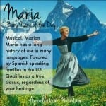 Maria: Baby Name of the Day