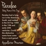 Paralee: Baby Name of the Day