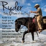 Ryder: Baby Name of the Day