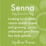 Senna: Baby Name of the Day