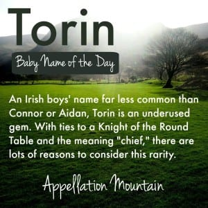 Torin: Baby Name of the Day