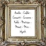 Nine Great Artist Surname Names