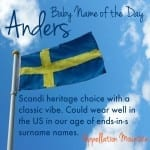 Anders: Baby Name of the Day