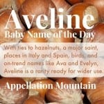 Aveline: Baby Name of the Day