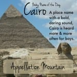 Cairo: Baby Name of the Day