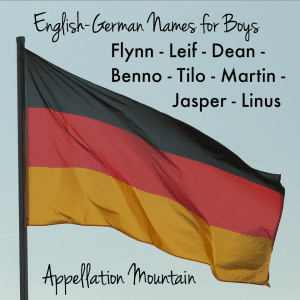 German-English boy names