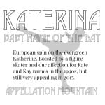Katerina: Baby Name of the Day