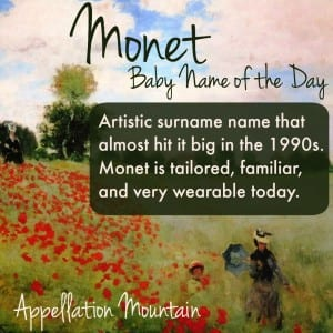 Monet: Baby Name of the Day