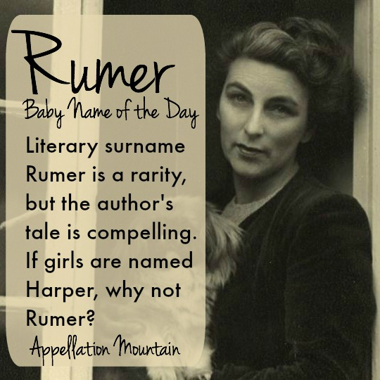 rumer baby name of the day appellation mountain