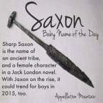 Saxon: Baby Name of the Day