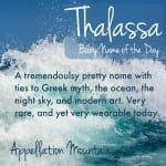 Thalassa: Baby Name of the Day