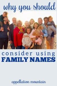 using family names