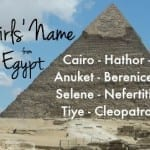 Name Help: Egypt-Inspired Name for a Girl