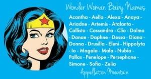 Wonder Woman Baby Names