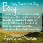 Bay: Baby Name of the Day
