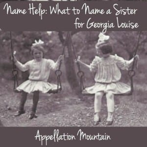 Name Help: A Sister for Georgia Louise