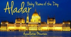 Aladar: Baby Name of the Day
