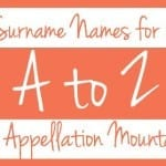 A to Z: Surname Names for Girls