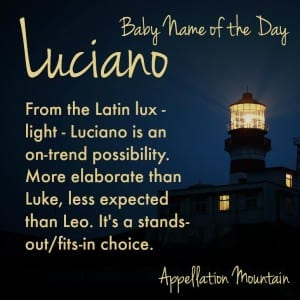 Luciano: Baby Name of the Day