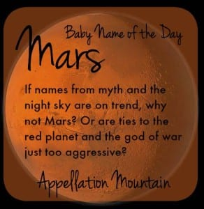 Mars: Baby Name of the Day