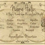 Name Help: A Boy Name from History and Myth