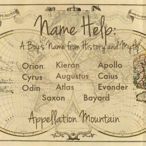 Name Help: Boy Names from History and Myth