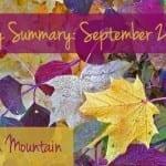 Sunday Summary 9.27.15