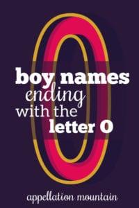 Boy Names Ending with O