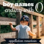 Boy Names Ending with O