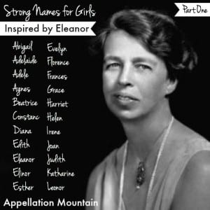 Strong Names for Girls: Inspired by Eleanor, Part I