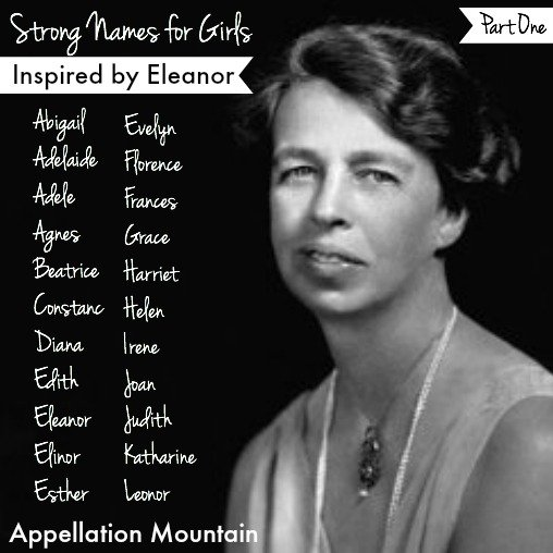 Strong Names For Girls: Inspired By Eleanor, Part I ...