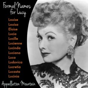 Formal Names for Lucy