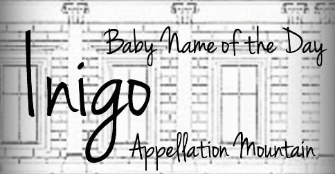 Inigo: Baby Name of the Day