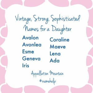 Vintage Strong Sophisticated Names for Girls