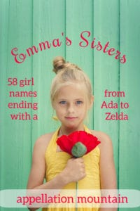 Emma's Sisters: Girl Names Ending with A