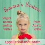 Emma's Sisters: Short Girl Names Ending With a