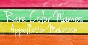 Rare Color Names