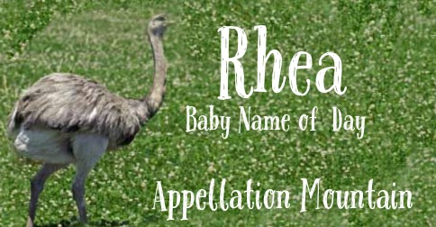 Rhea: Baby Name of the Day