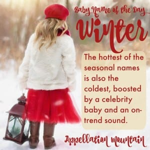 Winter: Baby Name of the Day