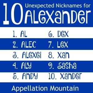 nicknames for Alexander
